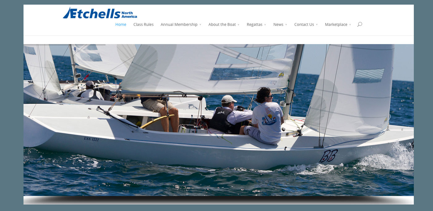 Etchells North America website by Rhumbline Communications