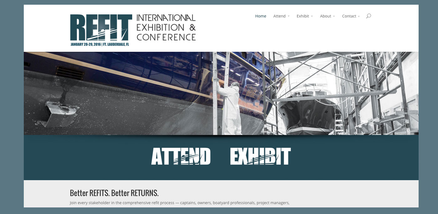 Refit Show website by Rhumbline Communications