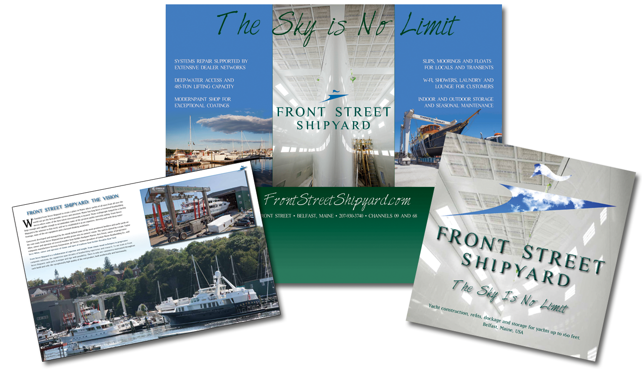 Front Street Shipyard website by Rhumbline Communications